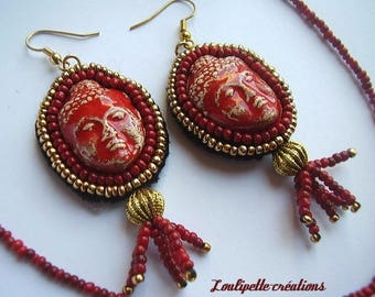Buddha earrings with pearls