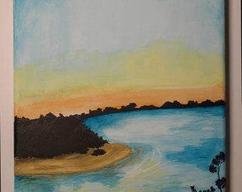 Bayfront Sunset watercolor
