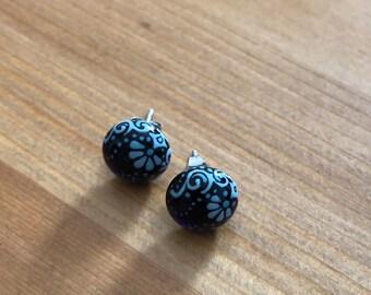 Handmade steel enamelpaintrd Pendant and Earrings wehns23018