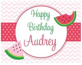 DIY, Watermelon Birthday PARTY PACK