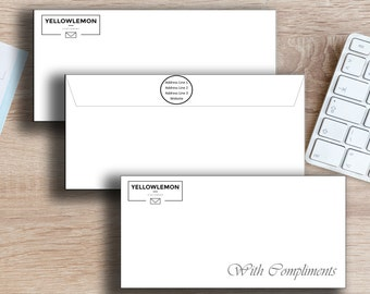 10 Printed Envelopes and Compliment Slips