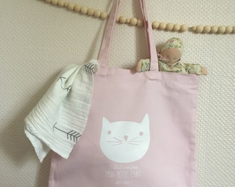 Cotton tote bag organic very thick soft tones for smaller babies