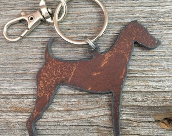 Airedale Keychain, Airedale Key Chain, Airedale Keyring, Key Ring, Dog Lover Gift, Gifts for Dog Mom Pet Loss Memorial Dog Lovers