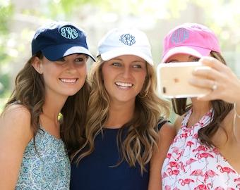 Monogrammed baseball hat, Monogrammed Baseball Cap, Personalized Baseball Cap, Custom Baseball Hat,Bridemaids Gift,Sorority Sister Gift-BH01
