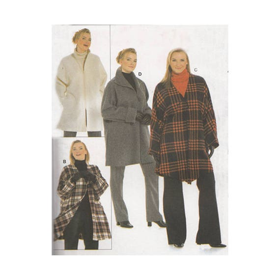 Womens Jacket Burda 8267 Größe 16/18 bis 58/60 locker sitzende