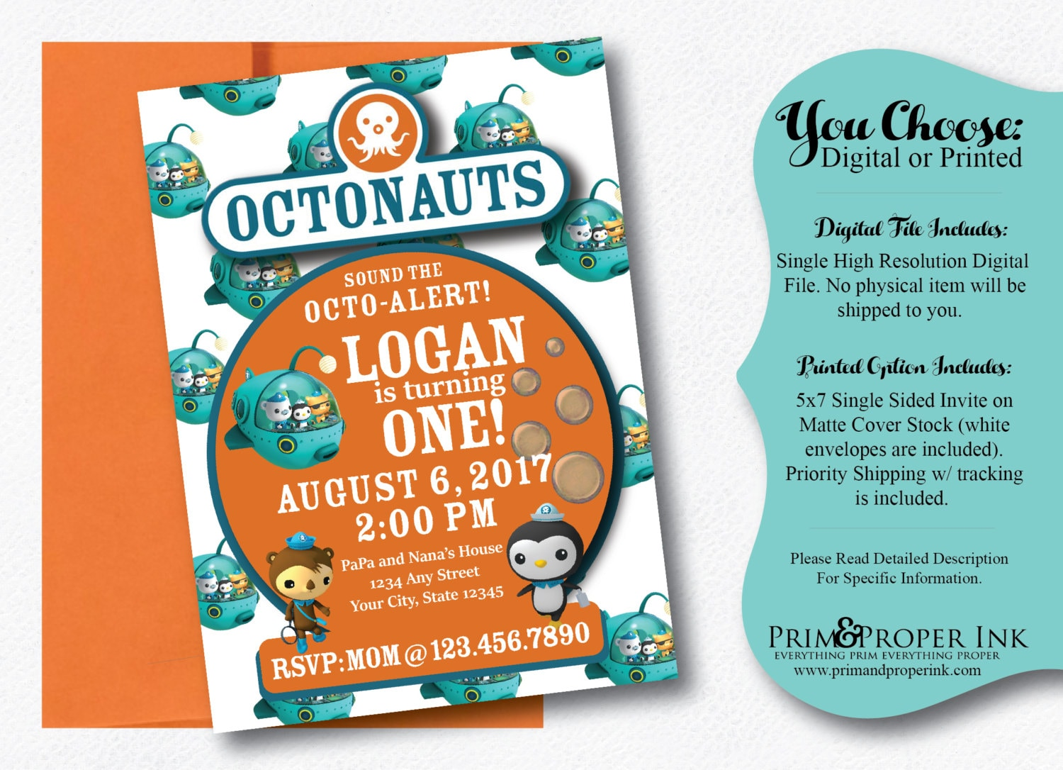Attractive Octonauts Birthday Party Invitations Frieze Invitation