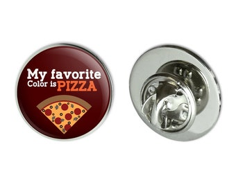 "My favorite color is pizza metal 0.75"" lapel hat pin tie tack pinback"