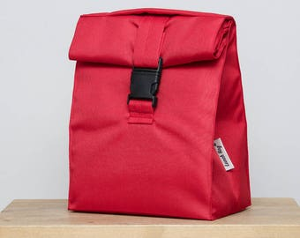 Lunch bag for women lunch bag insulated lunch bag kids lunch bag school lunch bag adults red bag Sandwich bag for school picnic bag tote