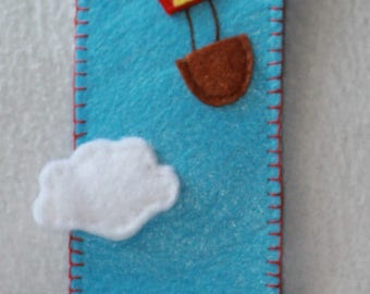 Bookmark small ball in a blue sky