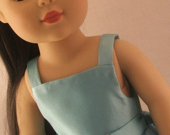Blue Daisy Dress and Belt for American Girl Doll