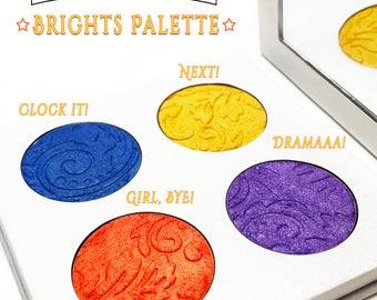 Brights Quad Palette-Vegan Neons-Vegan Eyeshadows-Vegan Makeup-Organic Makeup-Vegan Bright Eyeshadow, Vegan Colors, Rich Lux, Youtube