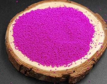 Bag of 10g of micro beads pink