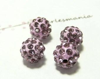 1 Pearl shambala lilac quality 6mm