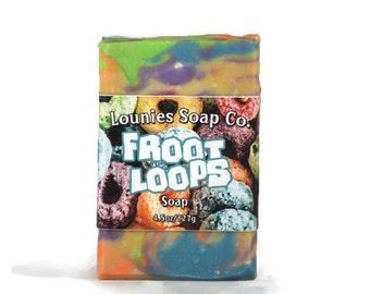 Fruit Loop Soap | Fruit Loops | Scented Soap | Colorful Soap | Handmade Soap | Soap Gift | Handmade Gift Idea | Bar Soap Gift | Unique Gift