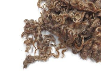 First Clip Kid Mohair wool locks , colour red   RM-9