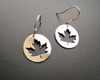 Maple Leaf Silver Earrings