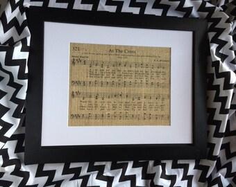 "Hymn Burlap Print ""At The Cross"""