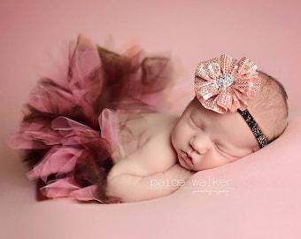 Newborn Tutu, Baby Tutu, Toddler Tutu, Tutu Set, Tutu, Newborn Tutu Set, Baby Tutu Set, Pink and brown Tutu,