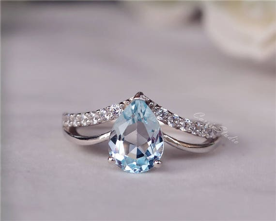 rains sky gemstone tacori ring stone blue rings layered london neolite cluster multi turquoise clear topaz quartz island