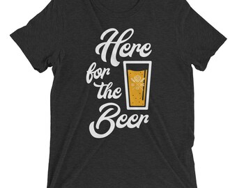 Men's Here For The Beer T-Shirt - Black