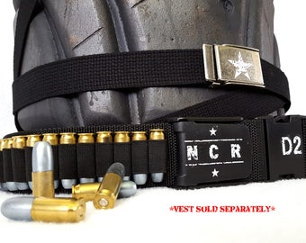 Fallout NCR Veteran Ranger Belts, Buckles, and Bullets for Vest - Post-Apocalyptic Wastelands Gear