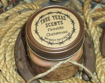 Fireside Christmas (Fireside type Scent) - 8 oz Western Texas Cowboy candle