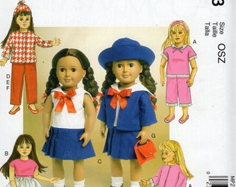 McCalls 7370- Sewing pattern for 18 Inch Doll Clothes- Fits American Girl Dolls-