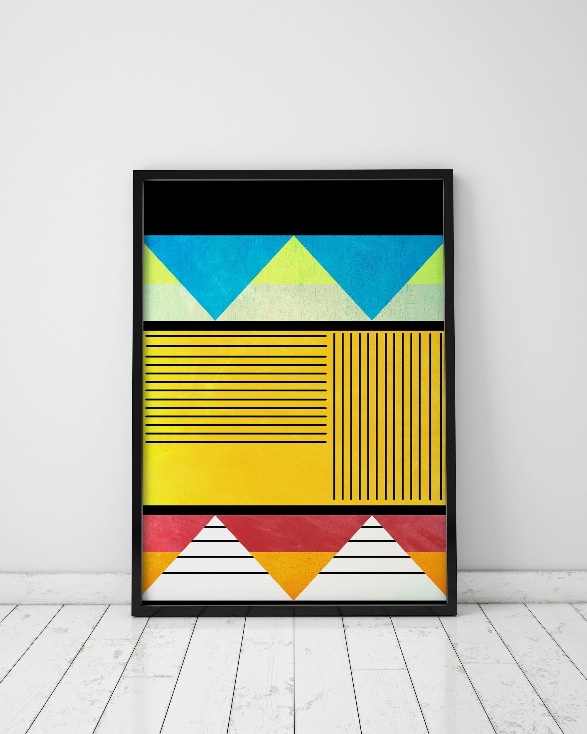 Geometric Art Prints Abstract Art Print Tribal Art Ethnic Wall