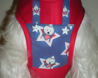 forth of July Harness, bow tie , adjustable harness,