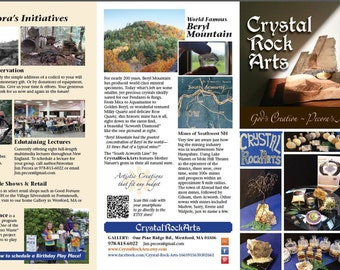 You will receive Pecora's CrystalRockArts Brochure. Your donation will help to fund our Mission.