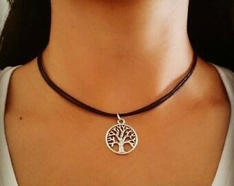 Tree of life Choker Necklace, Tree of life Choker, Tree of Life Jewelry, Bohemian Jewelry, Grunge Jewelry, Gift for Her, 90s Choker Jewelry