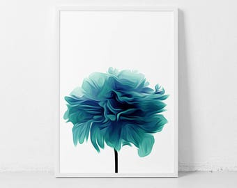 Labor Day Sale, Labor Sale, Sale Labor, Day Labor, Sale Day, Teal Flower Print, Abstract Teal Print, Flower Print Teal, Printable Wall Art