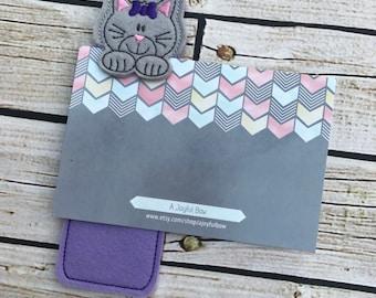 Kitten cat bookmark, peeking bookmark, animal bookmark, bookmarks for kids