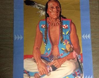"Native American Print, Clears Up ""Blackfeet Brave"""