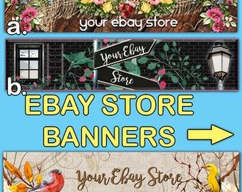 EBAY STORE BANNERS-Premade Ebay Banner-Shop Ebay-Ebay Store-Website-Large Ebay-Elegant Ebay