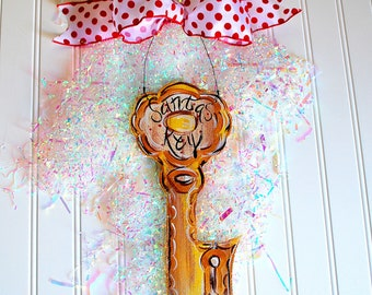 Santas Magic Key | Christmas Eve Key | Christmas Door Hanger
