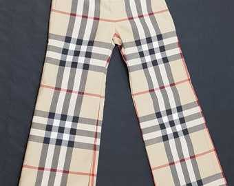BURBERRY Pants Color Tartan Classic Size Boy 6 Years Old