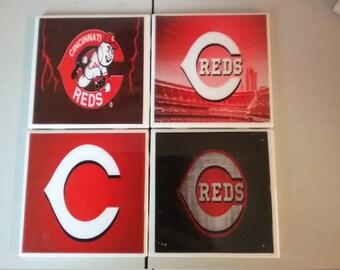 Cincinnati Reds coaster set