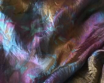 Silk Scarf, Nuno Felting Fabric, Silk Fabric for Nuno, Hand dyed silk Habotai
