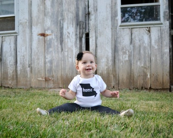 No place like home screen printed onesie, childrens t-shirt