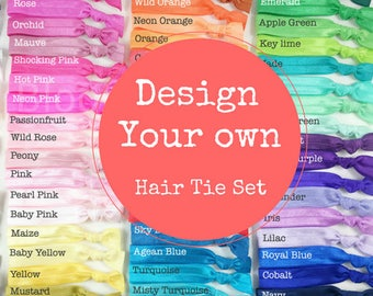 Design your own hair ties gift set - Select Card and Hair Ties Choice - Hair Ties Sets - Everyday/ Wedding/Bridesmaid/Gift/Party favor
