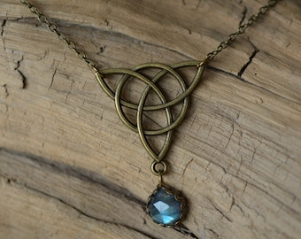 Labradorite Celtic knot necklace