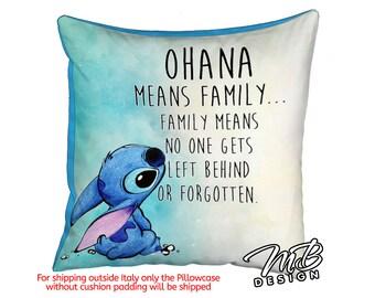 Cushion 40 x 40 cm. Type Lilo & Stitch OHANA