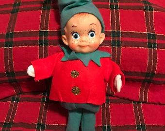 Vintage standing Felt Pixie Elf