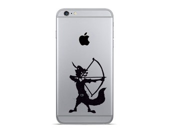 2x Fox Hood Decal Stickers Cell Phone Vinyl Stickers