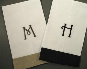 Monogrammed Linen Guest Towels (set of 2)