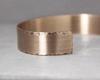 Men's Bronze Cuff, 1/2 Inch Cuff, Men's Distressed Cuff, Distressed Bronze Cuff, Cuff For Guy, Gift For Him, Gift For Dad, Hand Stamped Cuff