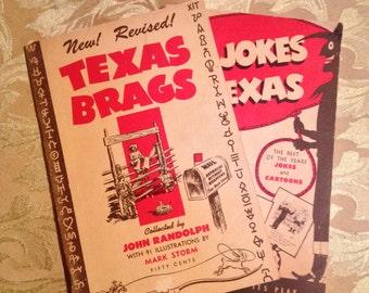 Vintage Pair of Texas Paperback Books, Brags and Jokes by John Randolph