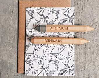 Ballpoint pen / BIC minimalist design printed in recycled wood / WOODENPEN