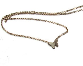 Tiny Butterfly Necklace